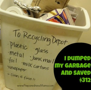 I dumped my garbage service and saved $312 | PreparednessMama