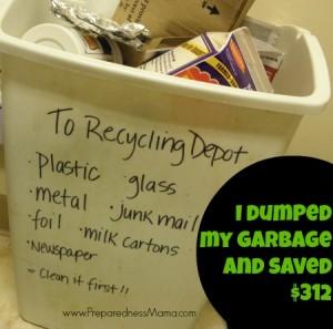 I dumped my garbage service and saved $312 | PreparednessMama