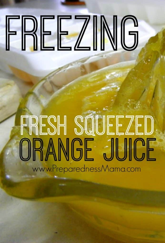 Freezing fresh squeezed orange juice. 12 Months in the freezer | PreparednessMama