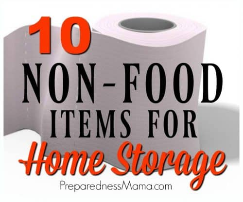 You can never be too prepared. Identify the home storage items your family does not want to be caught without. Here's a top 10 list to get you started.