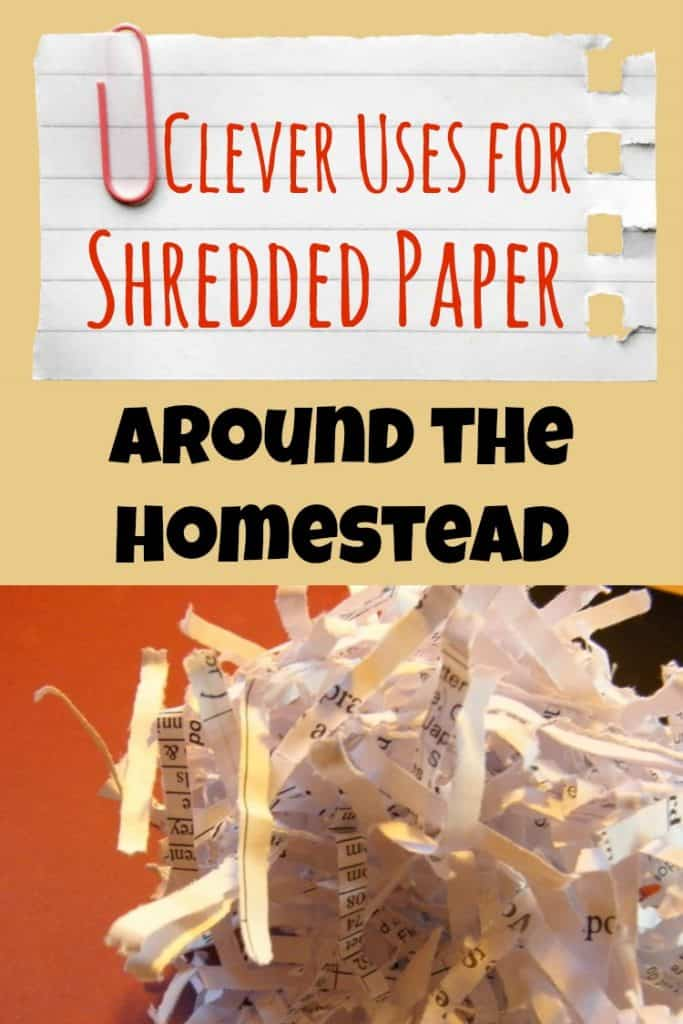 14 clever uses for shrdeed paper around the homestead. From seed starting to fire starting, you'll find it useful in many ways | PreparednessMama