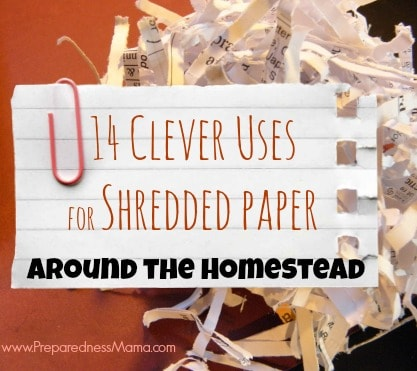 14 Clever Uses for Shredded Paper Around the Homestead