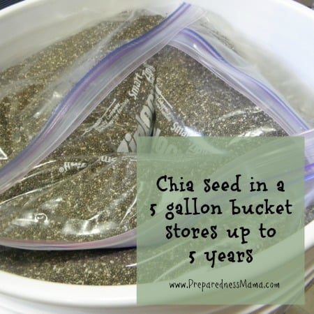 chia seed will store for up to 5 years | PreparednessMama