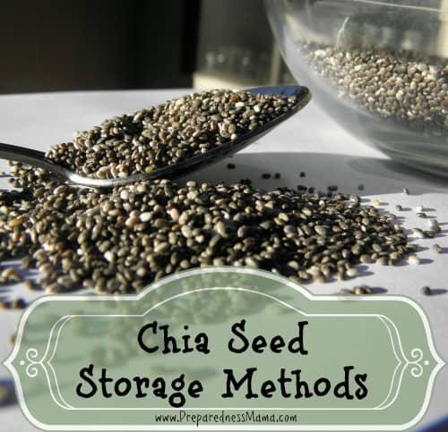 Chia seed storage methods | PreparednessMama