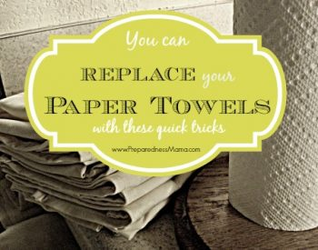 You can replace paper towels in your home | PreparednessMama