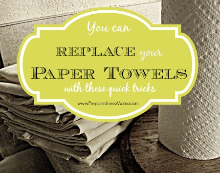 You can replace paper towels in your home with these quick tricks | PreparednessMama