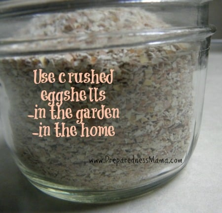 Use crushed eggshells around the home and garden | PreparednessMama