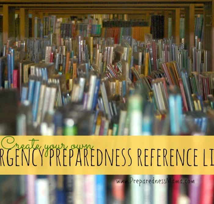 Create an Emergency Preparedness Reference Library