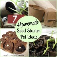 7 Homemade Seed Starter Pot Ideas | PreparednessMama