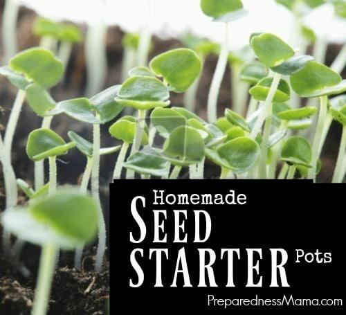 7 Ways to Make Homemade Seed Starter Pots | PreparednessMama