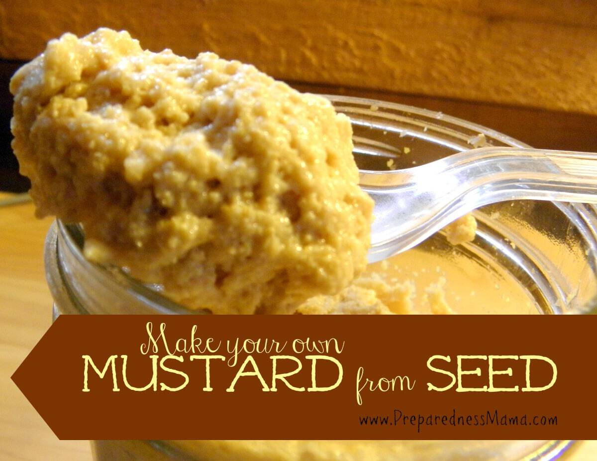 Make mustard from seed | PreparednessMama
