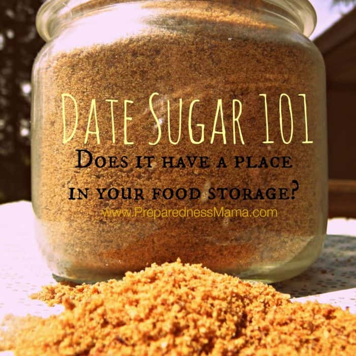 Date Sugar Storage 101 - Does it have a place in your food storage? PreparrednessMama