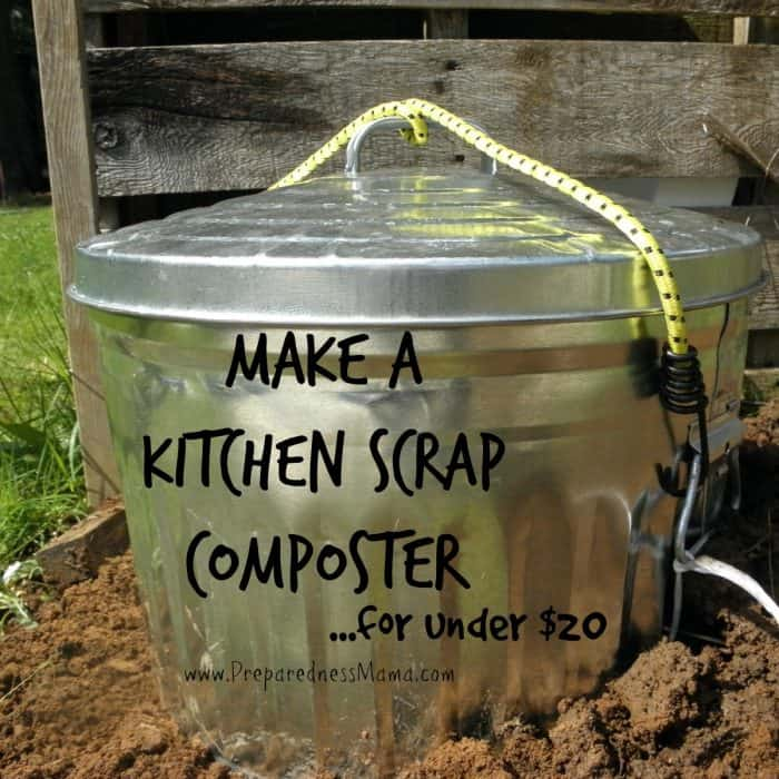 DIY Simple Kitchen Scrap Composter