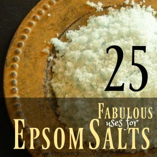 25 Uses for Epsom Salts | PreparednessMama