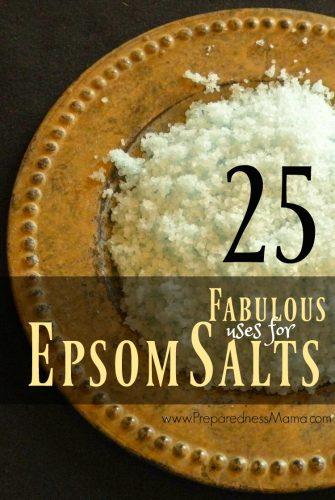 25 Fabulous Epsom Salt Uses | PreparednessMama