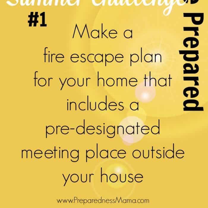 Be Prepared Summer Challenge #1 - Fire Escape Plan | PreparednessMama