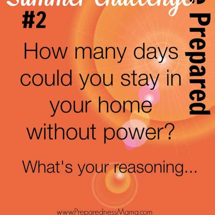 Be Prepared Summer Challenge Week 2 – Power Outages