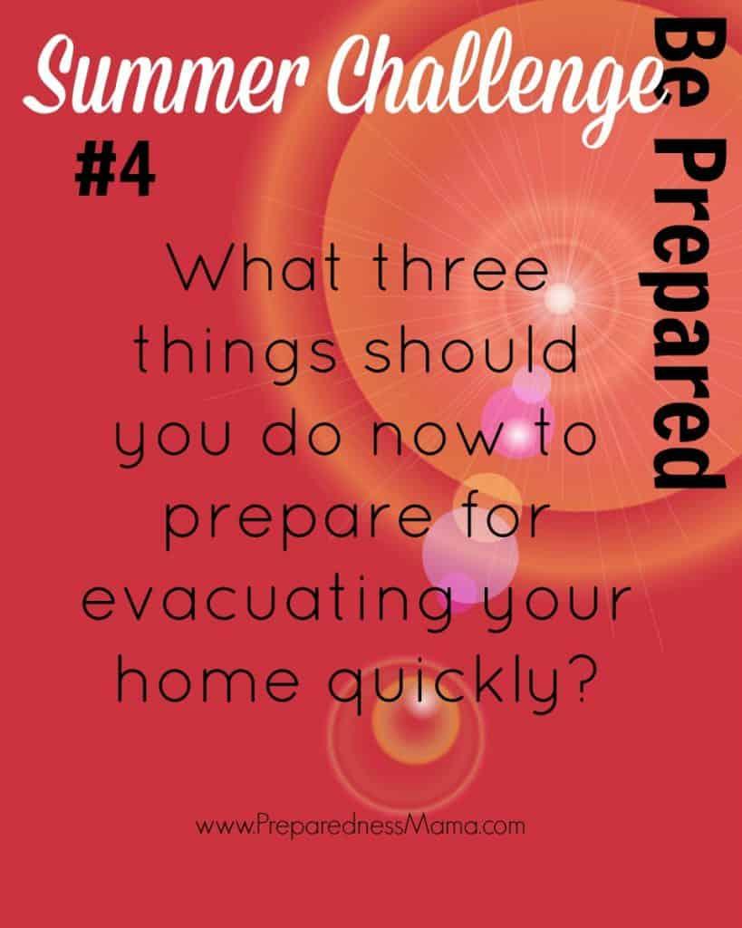 Be prepared Summer Challenge Week 4 - Prepare to Evacuate | PreparednessMama