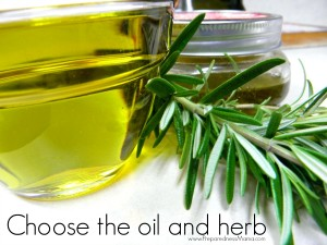 Choose the oil and herb to use for your infused oil | PreparednessMama