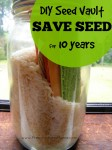 DIY Seed Vault - Learn how to save seeds for at least 10 years | PreparednessMama