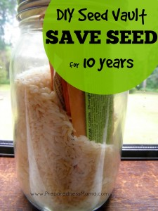 DIY Seed Vault - Learn how to save seeds for at least 10 years   PreparednessMama