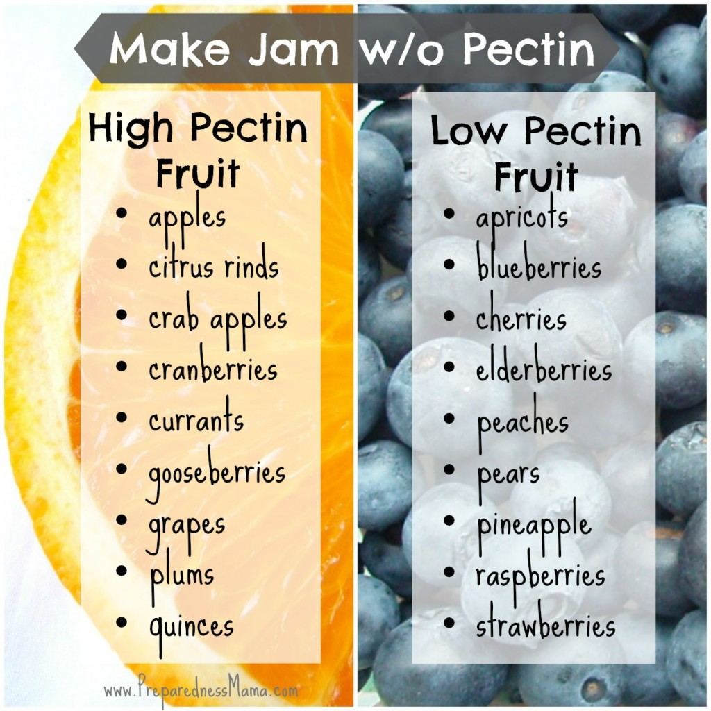 Which fruits are high and low in pectin? Use this when you make jam without pectin | PreparednessMama