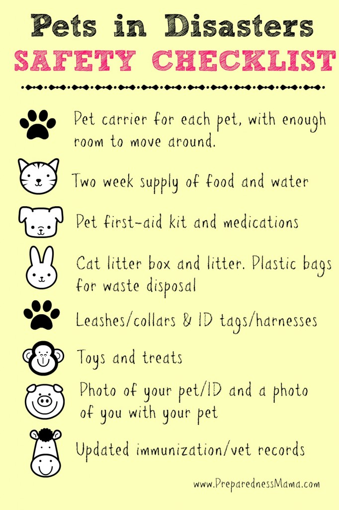 Pets in Disasters Safety Checklist | PreparednessMama