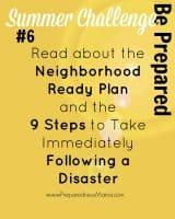 Be Ready Summer Challenge Week 6 - The Neighborhood Ready Plan   PreparednessMama