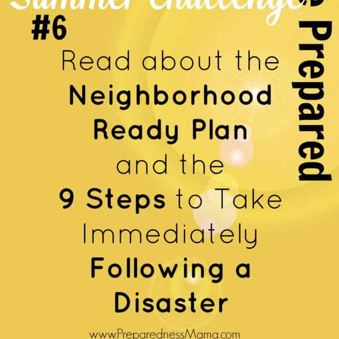Be Prepared Summer Challenge Week 6 – Neighborhood Ready