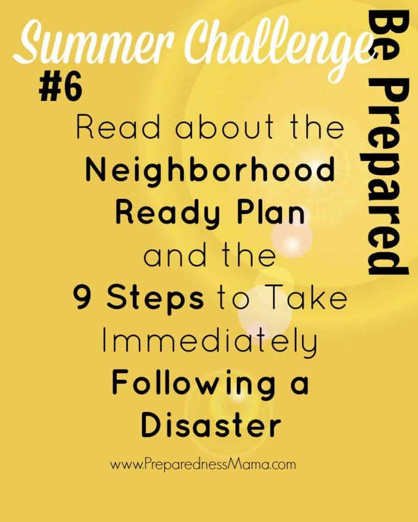 Be Ready Summer Challenge Week 6 - The Neighborhood Ready Plan | PreparednessMama