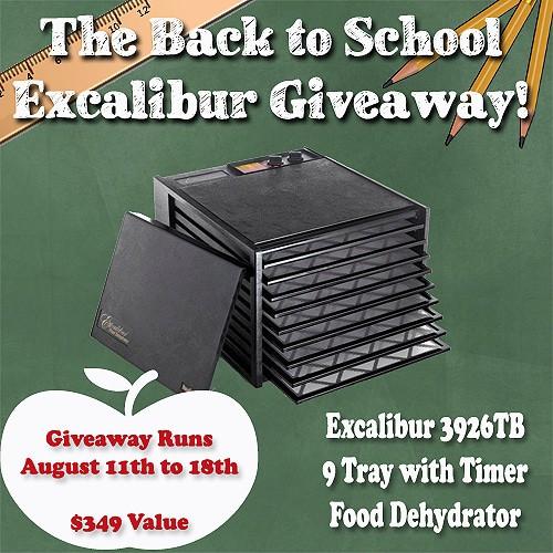 Excalibur Dehydrator Giveaway | PreparednessMama