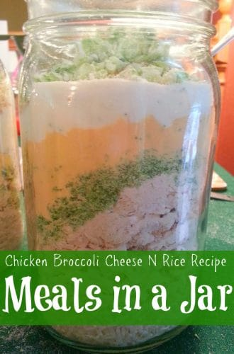 Meals in a Jar - Chicken Broccoli Cheese N Rice Recipe | PreparednessMama