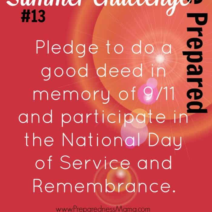 Be Prepared Summer Challenge Week 13 – Day of Service
