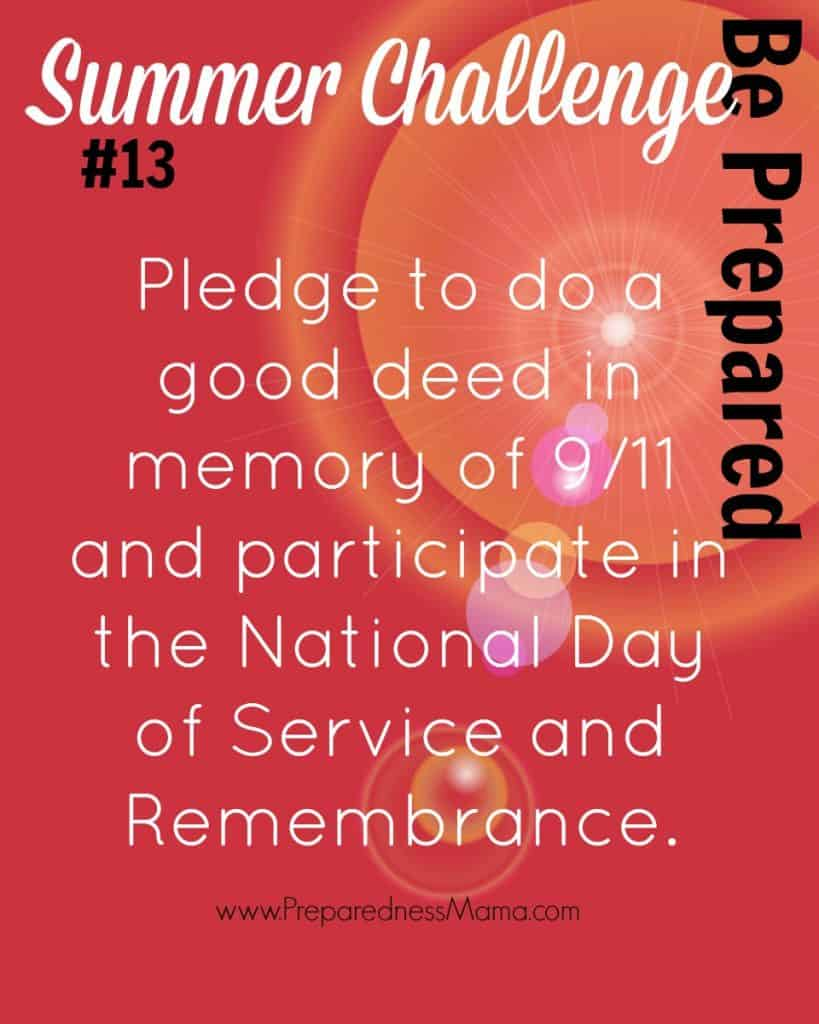Be Prepared Summer Challenge Week 13 - Day of Service | PreparednessMama
