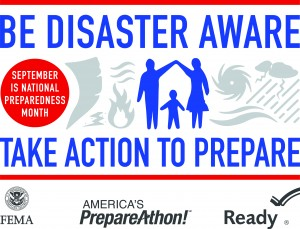 For National Preparedness Month 2014, the theme is Disaster Aware, Take Action to Prepare. Are you getting your preps in order? | PreparednessMama