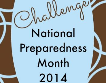 National Preparedness Month 2014 is here! Do a little - do a lot, it's up to you | PreparednessMama