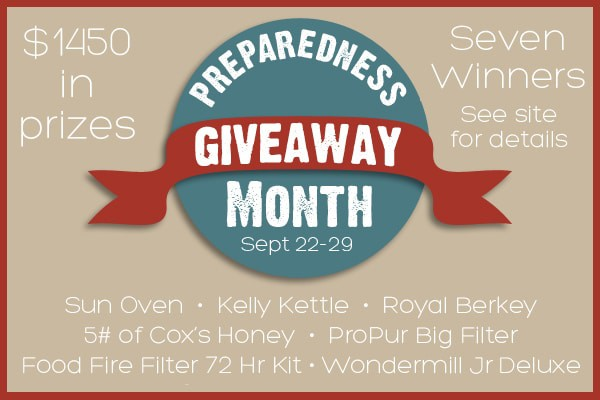 Preparedness Month Giveaway