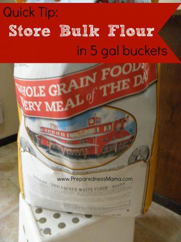 Store bulk flour in 5 gallon buckets | PreparednessMama
