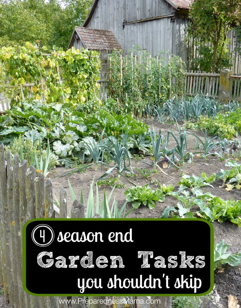 4 Season End Garden Tasks You Shouldnít Skip by Preparedness Mama - featured at Natural Family Friday