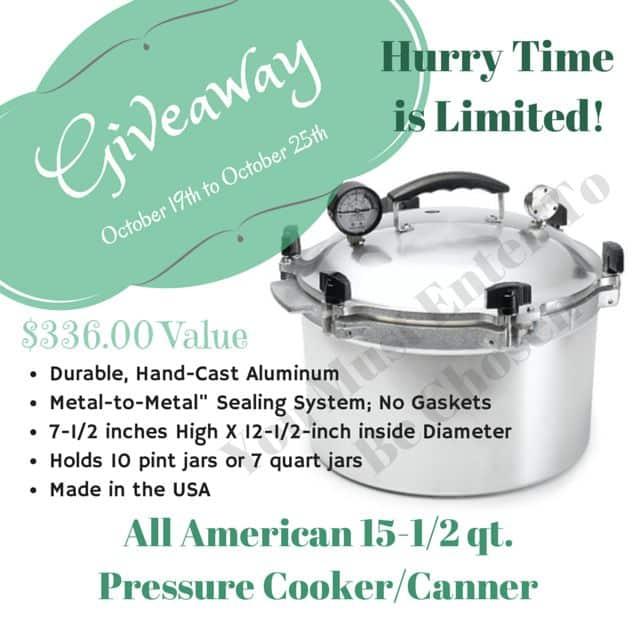 All American Pressure Canner giveaway | PreparednessMama