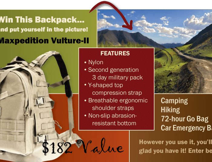 Maxpedition Vulture II Backpack Giveaway!