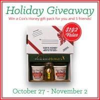 Cox's Honey Holiday Giveaway. Win for yourself and 5 of your friends | PreparednessMama