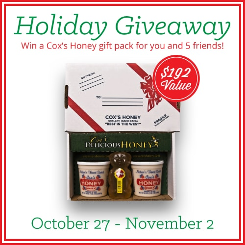 Cox Honey Holiday Giveaway