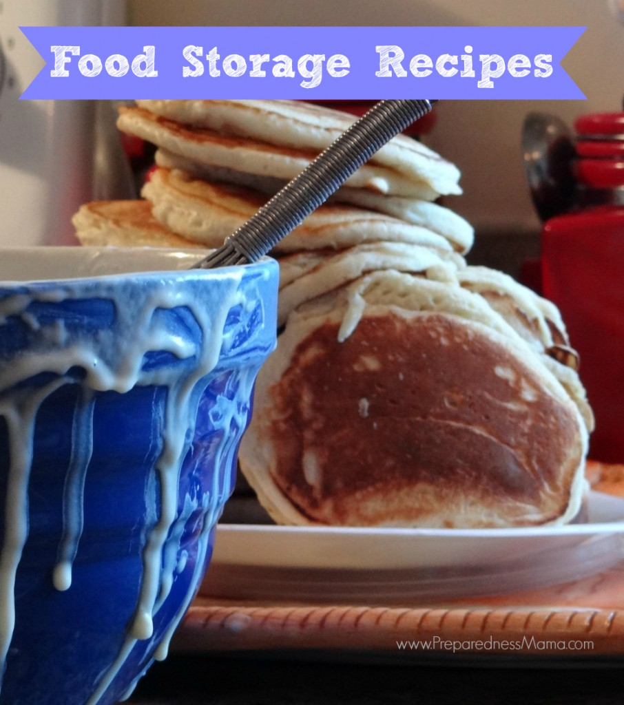 The Food Storage Recipes page at PreparednessMama
