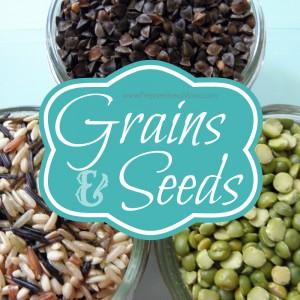 The Grains and Seeds page at PreparednessMama.com| PreparednessMama