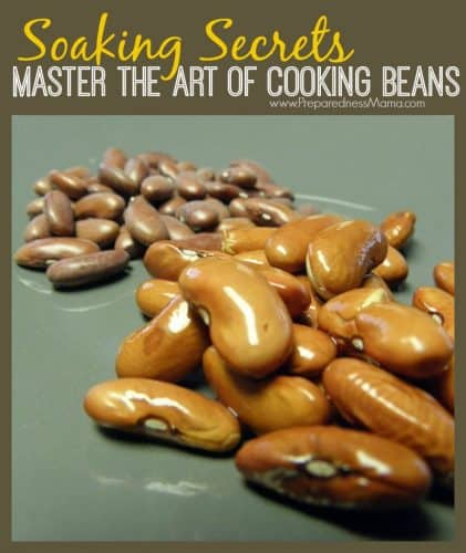 Soaking Secrets: Master the art of cooking beans | PreparednessMama