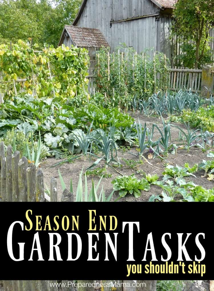 4 season end garden tasks you shouldn't skip | PreparednessMama