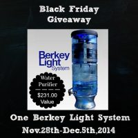 Black Friday Berkey Light Giveaway | PreparednessMama