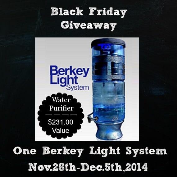Black Friday Berkey Light Giveaway | PreparednessMama