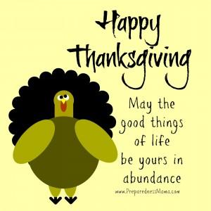 Happy Thanksgiving 2015 | PreparednessMama